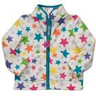 CARTER'S Girls Jacket Size 18 months STAR Print Fleece Full Zip White NEW