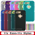 Lot of 10 Hybrid Rugged Rubber Matte Hard Case Cover for iPhone 6 6s 7 /8 Plus X