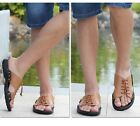 Fashion Men's Leather Summer Shoelace Shoes Beach Sandals Slipper Outdoor Casual
