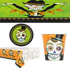 NEW HALLOWEEN PARTY DAY OF DEAD DECORATION CUPS NAPKIN TABLEWARE PLATES