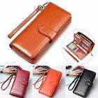 Case Leather Long Clutch Wallet Zipper Purse Fashion Women Handbag