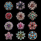 15-100 Bulk Mini Color Crystal Gold Flower Brooch Pin Wedding Bouquet Wholesale