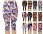 Docele Summer Capri Printed Leggings 718