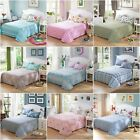 100%Cotton Double Queen King Size Fitted/Flat Sheet Set Pillow Cases Bed Linen