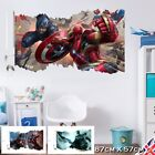 3d Crack Avengers Wall Stickers Vinyl Decal Bedroom Hulk Captain IronMan Thor UK