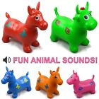 Kids Talking Animal  Space Hopper Inflatable Rubber Toy Bouncer Cow / Horse Gift
