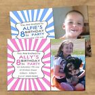 Personalised Photo Birthday Party Invitations For Any Age 1st 2nd 3rd 8th(BIO2P)