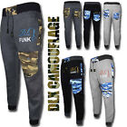 Mens Joggers DL Funk Camouflage Pockets Fleece Jogging Sports Pants Trouser Rib