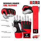 Wyox Inner Hand Wraps Fist Padded Bandages MMA Gel Strap Mitts Kick Red/Black