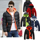 New Men's Winter Hooded Thick Padded Jacket Zipper Slim Outwear Coat Warm