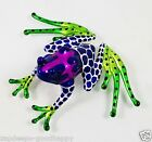 AMAZON POISON DART FROG TYPE III PAINTED HAND BLOWN GLASS ANIMALS GIFT