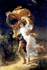 Classic French Romantic art print: The Storm by Pierre Cot - young romance
