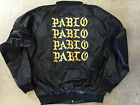Kanye West Pablo Portland Pop Up Black Satin Bomber XL yeezy jacket nyc 1 i am