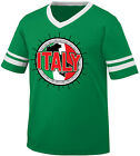 Italy Flag Ball Born From Italian Italia Country Team IT Men's V-Neck Ringer Tee