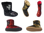 CLASSIC SPARKLES DOUBLE SHADE SEQUINS Midnight Sequin Woman's Boots ~~$27.99~~