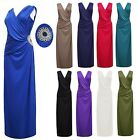 LONG BRIDESMAID PARTY COCKTAIL EVENING PROM BUCKLE WOMENS MAXI DRESS 8-14