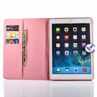 Color Printed Faux Sheepskin Leather Flip Protective Cover Case For ipad6 ZD
