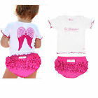 Baby Girls clothing Set Baby Cute Girl Angel Wing Tops+Shorts Tutu Infant Suit