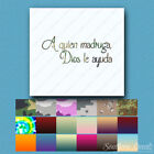 A Quien Madruga, Dios Le Ayuda - Decal Sticker Multiple Patterns & Sizes ebn3765