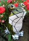3 Outdoor Garden Decor Solar Mosaic Animal Statue Bunny/Frog/Owl Landscape Light