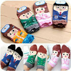2 Pairs Lovely Cartoon Women Cotton Warm Family Pattern Cute Socks Ankle Casual