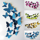 Внешний вид - 12PCS Wall Stickers Decal Butterflies 3D Mirror Wall Art Christmas Home Decors