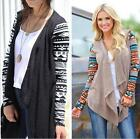 Fashion Casual Waterfall Cardigan Long Sleeve KnittedSweater Outwear Jacket Coat