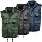 Mens Bodywarmer Gilet Lined Padded Mullti Pocket Work Wear Outdoor Hunting New