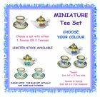 MINIATURE tea set 2cm tall - with 1 teacup or 2 - CHOOSE COLOUR - fairy garden