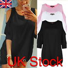 Sexy Summer Fashion Womens Off Shoulder Loose Casual T-shirt Long Tops Blouse
