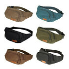Three Zipper Pockets Fanny Pack Coffer Waist Bag with Cell Phone Pouch Delightful
