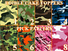 CAMOUFLAGE CAMO MILITARY Edible image Cake toppers cupcakes, strips and more...