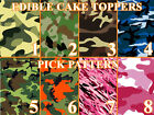 CAMOUFLAGE CAMO MILITARY Image Edible Cake toppers cupcakes, strips and more...