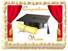 GRADUATION Red Curtains Image Edible cake topper Frosting sheet