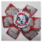 Baby/Toddler/Girl/Adult 3.5 Inch Pin Wheel Bow - 101 Dalmations
