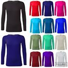 Womens Tee Shirt Long Sleeve Stretchy PLUS SIZE Ladies Blouse Top Basic Top 8-26