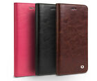 QIALINO Crocodile Flip Case for iPhone 7 7 Plus Genuine Real Leather Cover Rose