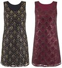 Womens Ladies Sequin Aztec Scales Dress Mini Sleeveless Bodycon Elegant Twiggie