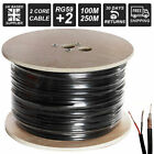 100m 250m CCTV Cable RG59+2 Shotgun Cable Power Video Coaxial Cable REEL Roll UK