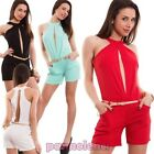 Overall woman full suit onesie shorts neck deep sexy new CJ-1464
