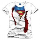 Superman T-Shirt Clark Kent white Maglietta in Cotone Originale Marvel