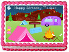CAMPING GIRLS Edible image cake topper decoration