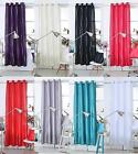 "Diamante Eyelet Ring Top Silk Faux Curtain Panel ~ 48"", 54"" 72"" 84"" 90"" Drops"