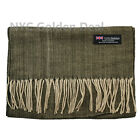 New Men Women 100% CASHMERE Warm Warp Scarf Scotland Thick Stripe Super Soft