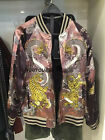 Spain Women's Limited Edition Embroidered Loose Reversible Bomber Jacket XS-L