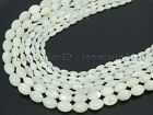 Natural White Mother Of Pearl MOP Shell Rice Spacer Loose Beads 16''