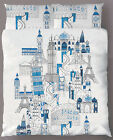 AROUND THE WORLD Italy Paris Europe - Quilt Cover Set- SINGLE DOUBLE QUEEN KING
