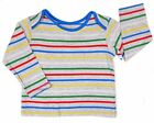 Baby Boys Striped Long Sleeve Top T-shirt Top Multi Coloured Stripe 3M to 12-18M