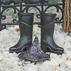 Black Witch Hat and Boots ~ Halloween Fairy Garden ~ Spooky Witches Hat ~ Scary