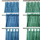 Pair of Acrylic Coated Damask Curtains Choose Your Color & Type - 110 x 213cm